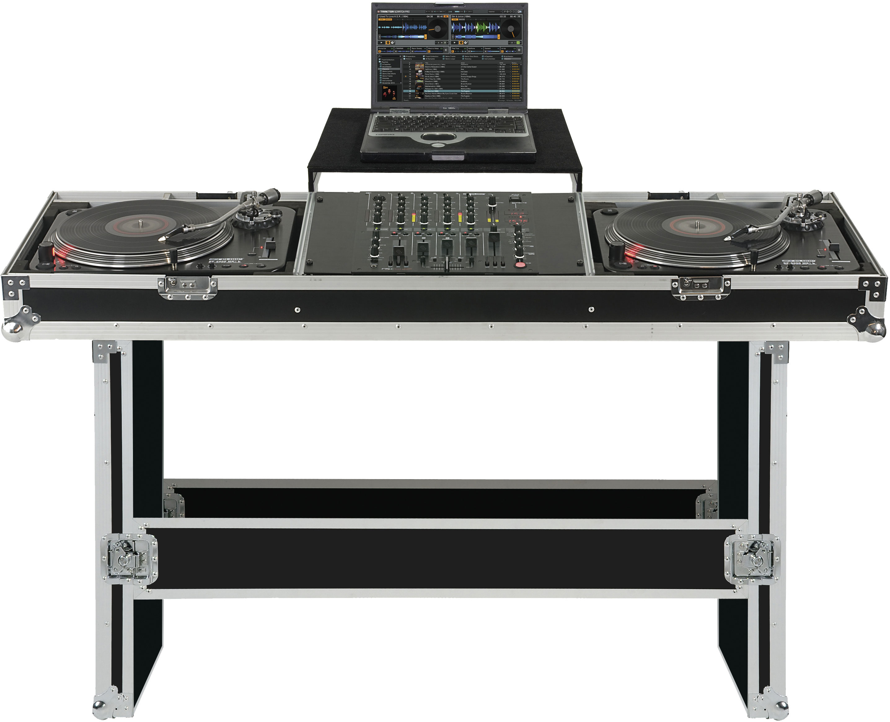 RELOOP TURNTABLE / MIXER CONSOLE CASE W LAPTOP TRAY