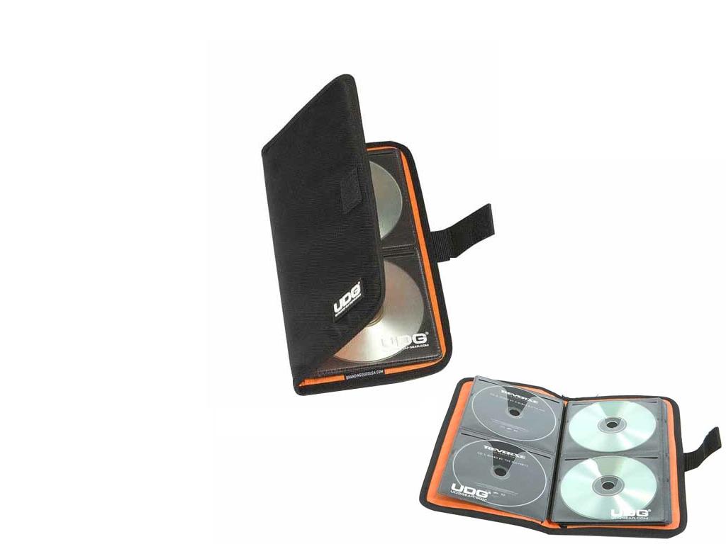 UDG ULTIMATE CD WALLET 24 DIGITAL BLACK, ORANGE INSIDE