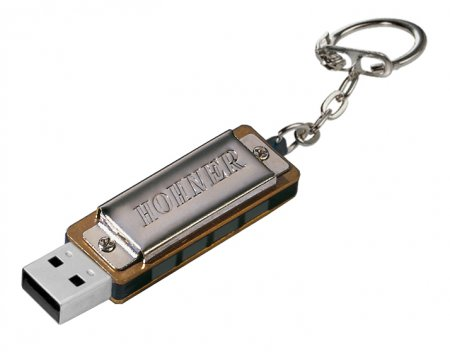 HOHNER USB MINI HARP WITH KEY RING