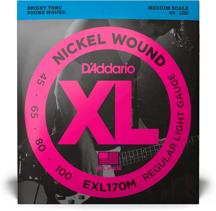 DADDARIO EXL170M LIGHT MEDIUM SCALE [45-100]