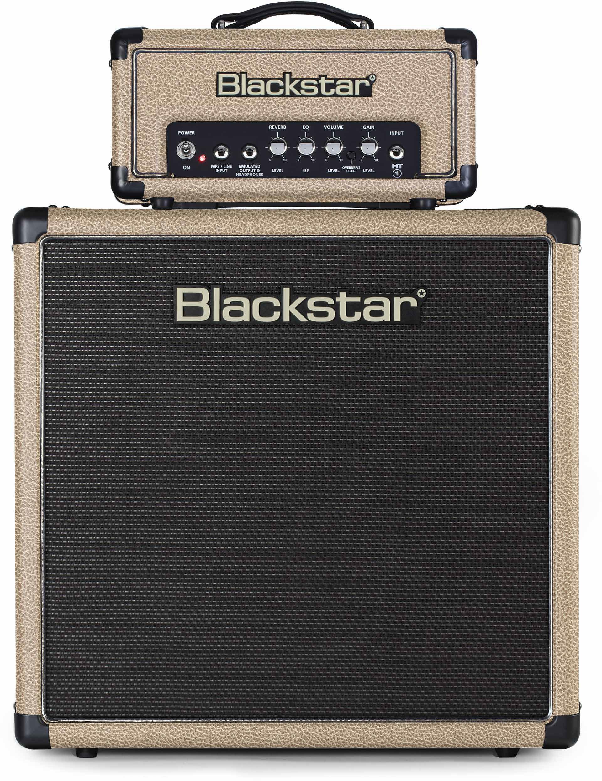 BLACKSTAR AMPLI STACK HT1RH + HT112 BRONCO TAN