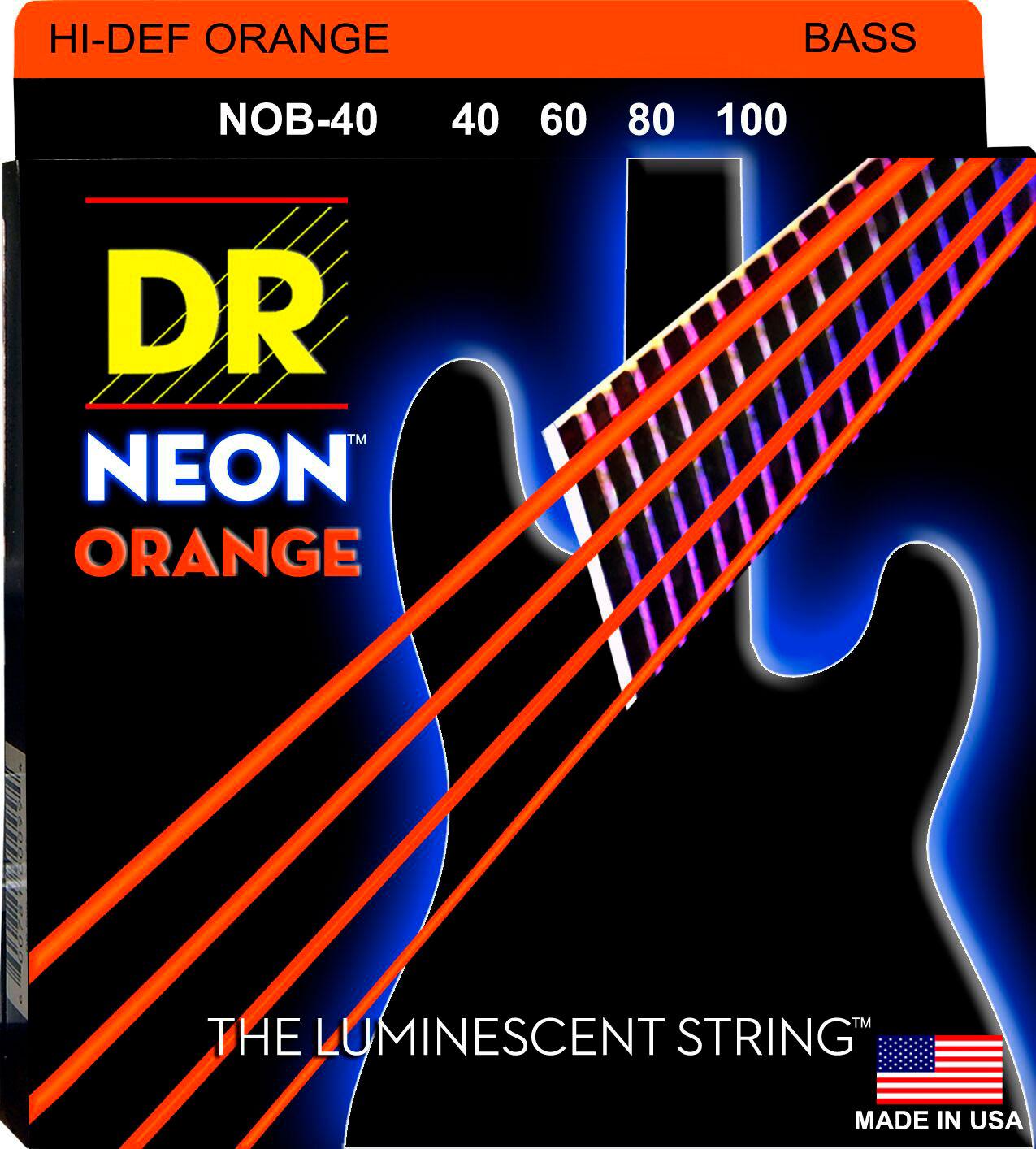 DR NOB-40 Neon Orange - Bassi Accessori - Corde