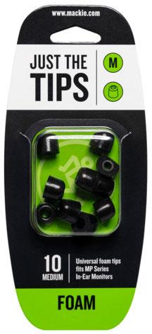MACKIE MP Series Medium Foam Black Tips Kit