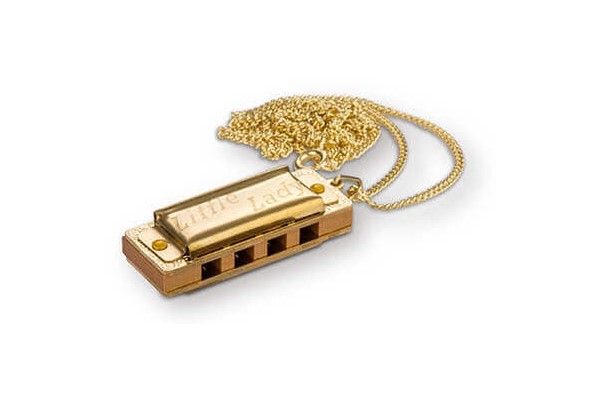 HOHNER LITTLE LADY, GOLD PLATED WITH NECKLACE