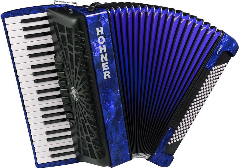 HOHNER BRAVO III 120 DARK BLUE 2019 (SILENTKEY)