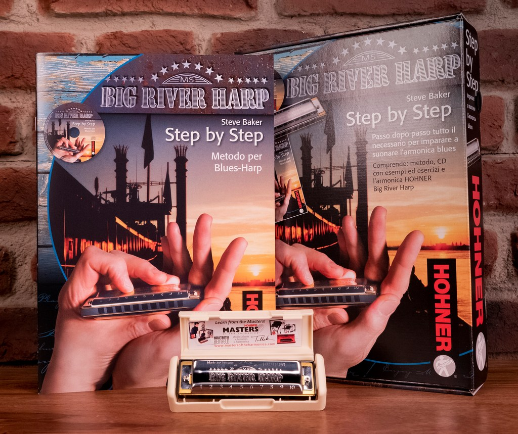 HOHNER-BIG-RIVER-STEP-BY-STEP-PACK-ARMONICA-MANUALE-IN-ITALIANO-sku-65298622309