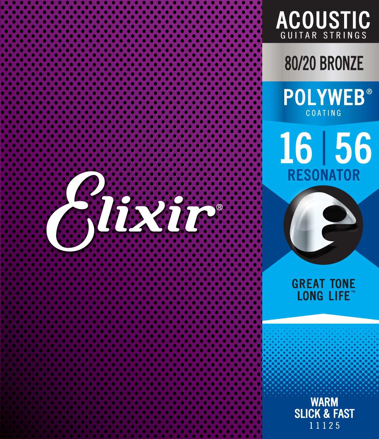 ELIXIR 11125 ACOUSTIC 80/20 BRONZE POLYWEB